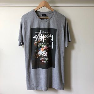 Stussy Short Sleeve Grey Tshirt